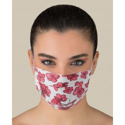 PINK FLOREAL PATTERN - Washable mask for Adult