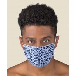 KIT 2 pcs Protective Blue color washable masks for Adult made of TNT and Natural cotton