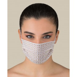 KIT 2 Protective Beige color washable masks for Adult made of TNT and Natural cotton