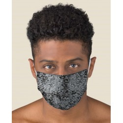 Couple of Protective Paillettes washable masks for Adult made of TNT and Natural cotton
