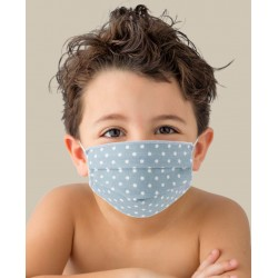 Couple of Protective washable masks for KIDS made of TNT and Natural cotton