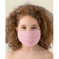 Pareja Máscaras por Niños Lavables en TNT y ALGODÓN